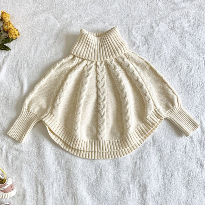 2021 spring Winter Kids Girls Long Sleeve Knit Turtleneck wholesale - PrettyKid