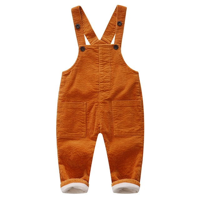 Spring Winter Corduroy Overalls for Boys Girls 1 2 3 4 Y Children's Jumpsuit Trousers Wholesale