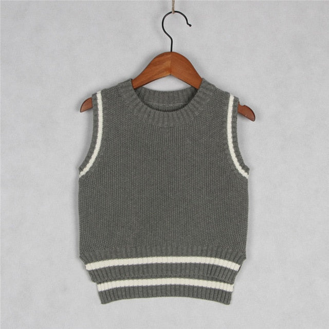 Boys Pullover Tops Clothing for Girls Vest Sweater Jacket Kids Cotton Knitted Vest Shirts Coat Wholesale
