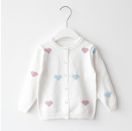 Spring urban Baby Girls Sweaters Kids Clothes Cotton Children Knitted Sweater Girls Cardigan Jacket wholesale