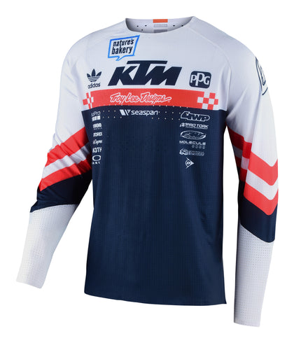 Troy Lee Designs SE ULTRA JERSEY; FACTORY TEAM WHITE / NAVY