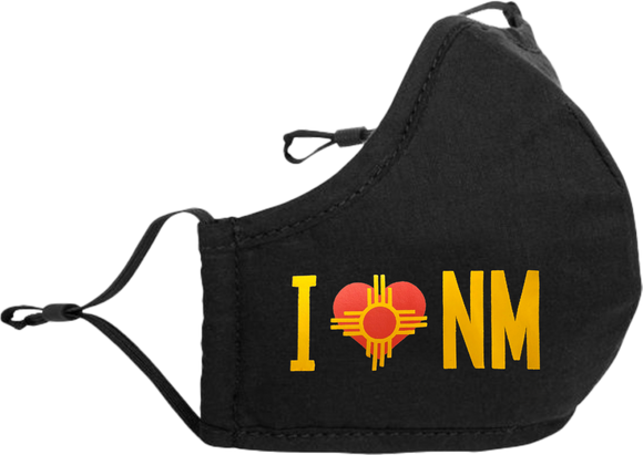 I Heart NM Dual Layer Adjustable Face Mask