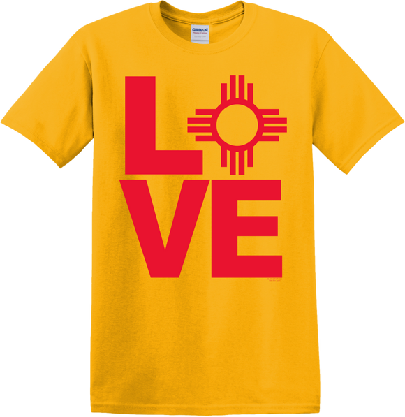 From New Mexico With Love Gold T-Shirt