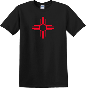 Black T-Shirt with Red Zia