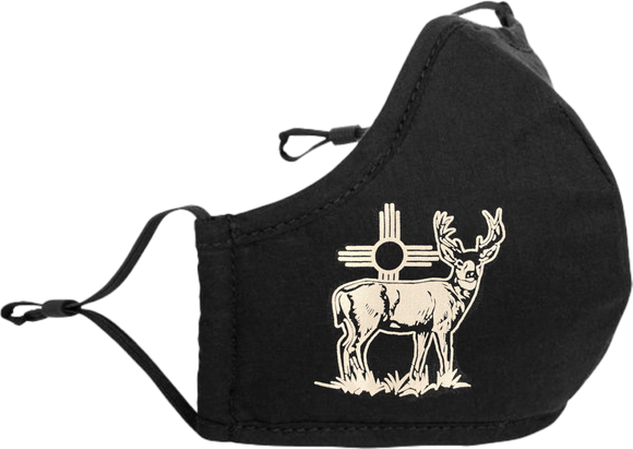 Adjustable Mask with Deer and Zia
