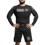 Hardcore Training Recruit Black Green Dark Purple Rash Guard Men's