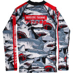 Hardcore Training Sharks Rash Guard Kids