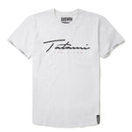 Tatami Fightwear Autograph Navy Blue White Black T-Shirt Men's