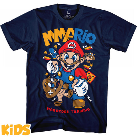 Hardcore Training MMArio Navy Blue T-Shirt Kids