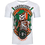 Hardcore Training Irish Fight Black White T-Shirt Men's