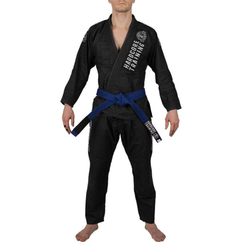 Hardcore Training Denim Gi Brazilian Jiu Jitsu Kimono Men's Black
