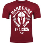 Hardcore Training T-Shirt Helmet Men's Black Grey Red