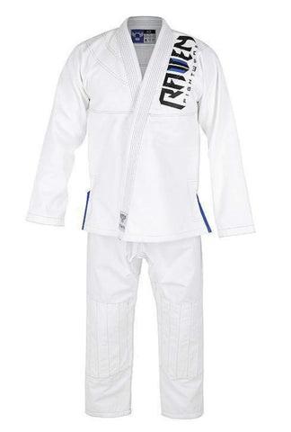 Raven Fightwear BJJ Gi Pearl Weave White Blue Men's