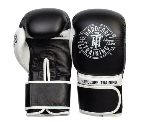 Hardcore Training Boxing Gloves Black & White