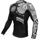 Hardcore Training Ta Moko Black Rash Guard Men's