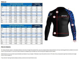 Raven Fightwear Long Sleeve Rash Guard Elements Fire Men's