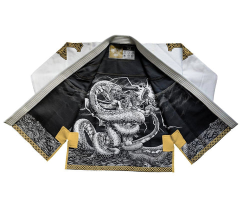 Raven Fightwear BJJ Gi Thor White Men's