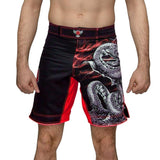 Raven Fightwear Fight Shorts Men's Thor Red Yellow Grey