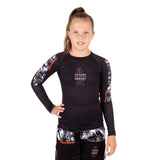 Tatami Fightwear Kids Tropic Black Long Sleeve Rash Guard
