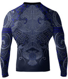 Raven Fightwear Nordic Rash Guard Black Blue White Purple Brown - Long Sleeve