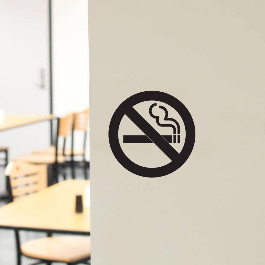 No Smoking Vinyl Sticker Sign Wall Decal Sticker Sign Self-Adhesive Waterproof Anti Smoking Sign (4 Pack)
