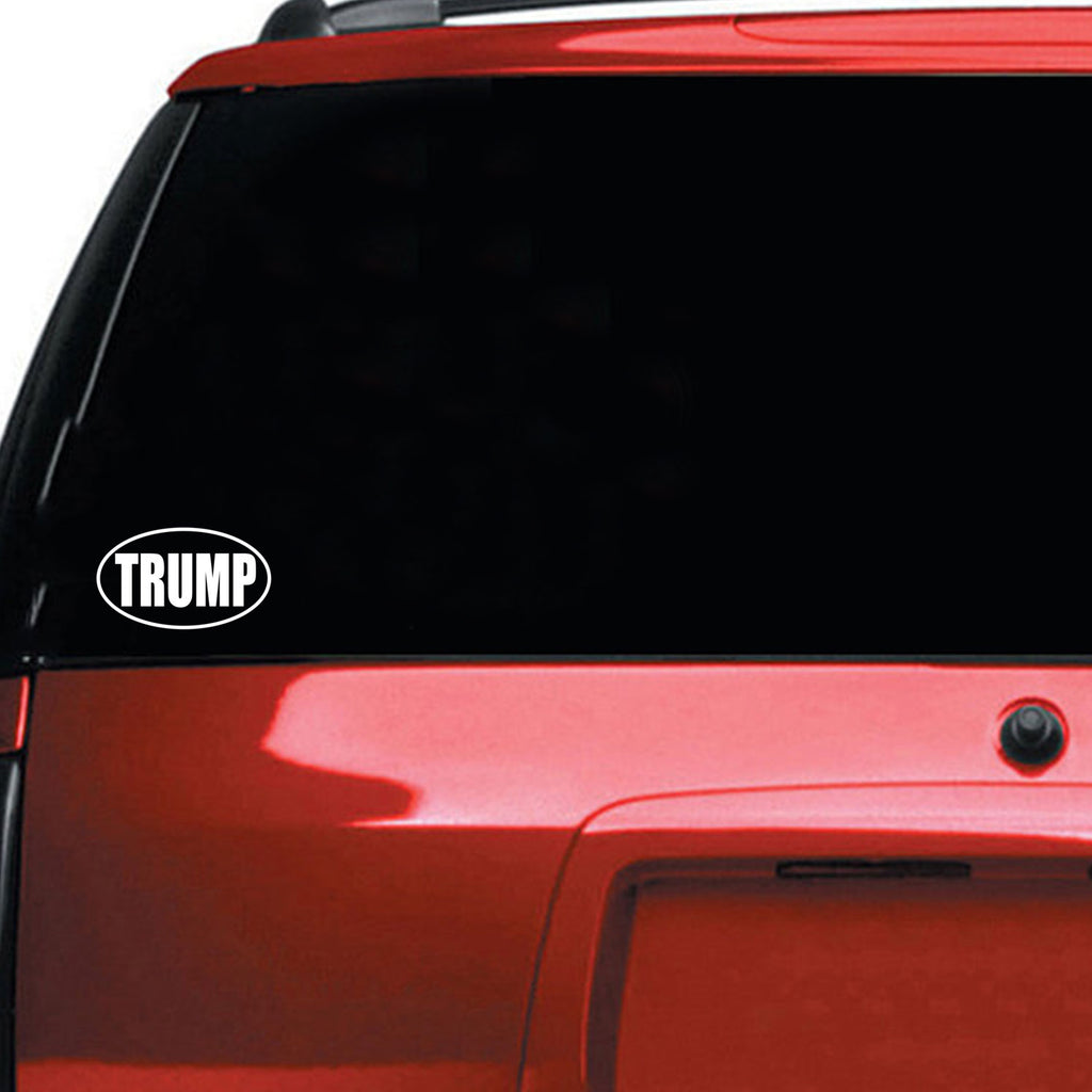 "Donald Trump MAGA Bumper Sticker - Wall Art Decal - Window Decoration Vinyl Sticker LetteringUSA President Political Decal (White, 3.5"" x 6"") 660078081129"
