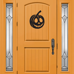 Halloween Pumpkin Art Decal Vinyl Wall Sticker - Black 660078087510