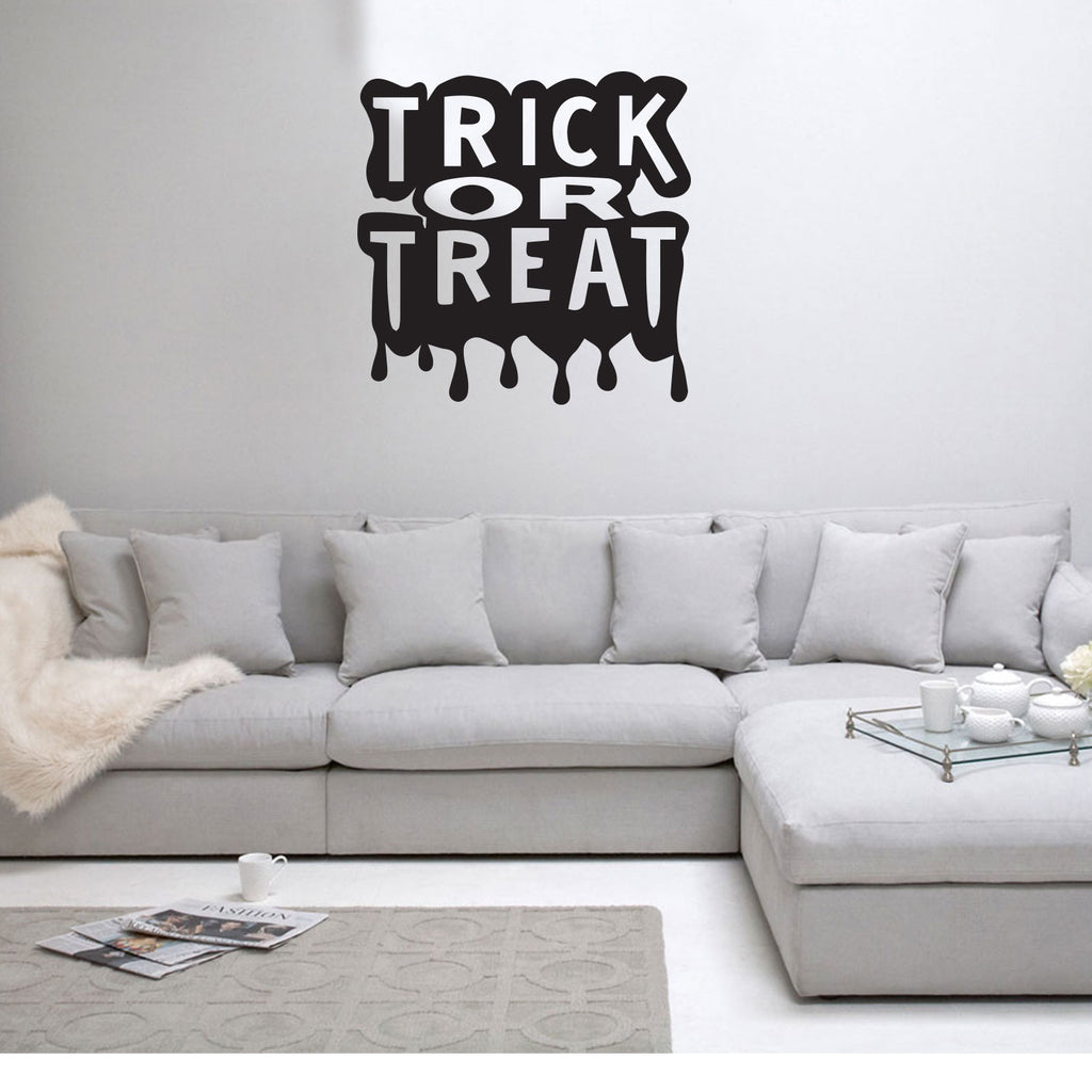Trick or Treat Halloween Art DecalWall Decoration Vinyl Sticker - Black 660078087626