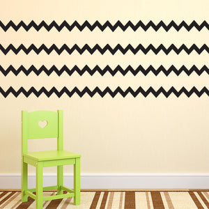 "Pack of 4 Chevron Pattern Stripes - Wall Art Decal - 8"" x 36"" - Bedroom Living Room Wall Decoration - Peel Off Vinyl Sticker - Apartment Decor - Trendy Wall Art 660078089507"