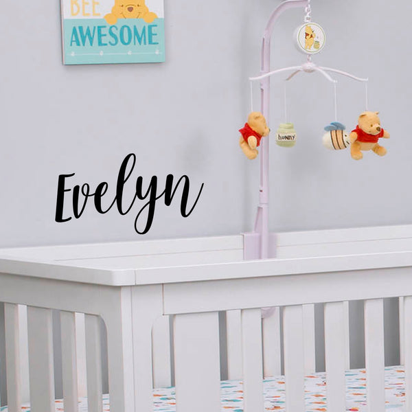 Vinyl Wall Art Decal Girls Custom Name - \'Evelyn\' Custom Text Name- 12