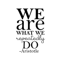 "We Are What We Repeatedly Do - Aristotle - Inspirational Life Quotes - Wall Art Decal 36"" x 22"" Decoration Wall Art Vinyl Sticker - Bedroom Living Room Wall Decor 660078089064"