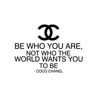 "Vinyl Wall Art Decal - Be Who You Are Not Who The World Wants You To Be - 33""x 23"" - Coco Chanel Inspirational Quote for Home Bedroom Living Room Office Work Apartment Decor - 660078088913"
