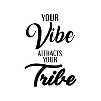"Your Vibe Attracts Your Tribe - Inspirational Quotes Wall Art Vinyl Decal - 25"" X 18"" Decoration Vinyl Sticker - Motivational Wall Art Decal - Bedroom Living Room Decor - Trendy Wall Art 660078089842"