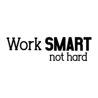 "Vinyl Wall Art Decal - Work Smart Not Hard - 6.5"" x 23"" - Positive Modern Life Quotes for Business Workplace Bedroom Decoration - Motivational Wall Home Office Decor Stickers 660078119969"