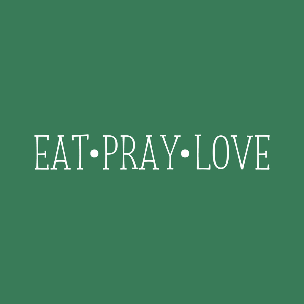 "Vinyl Wall Art Decal - Eat Pray Love - 3.5"" X 23"" - Modern Life Quote For Home Bedroom Living Room Decoration Sticker - 660078171547"
