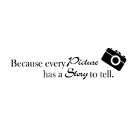 "Because every picture has a story to tell -22"" x 6"" -  S Vinyl Wall Decal Sticker Art"