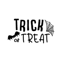 "Vinyl Wall Art Decal - Trick Or Treat - 12"" x 23"" - Fun Spooky Halloween Seasonal Decoration Sticker - Kids Teens Adults Indoor Outdoor Wall Door Window Living Room Office Decor 660078116180"
