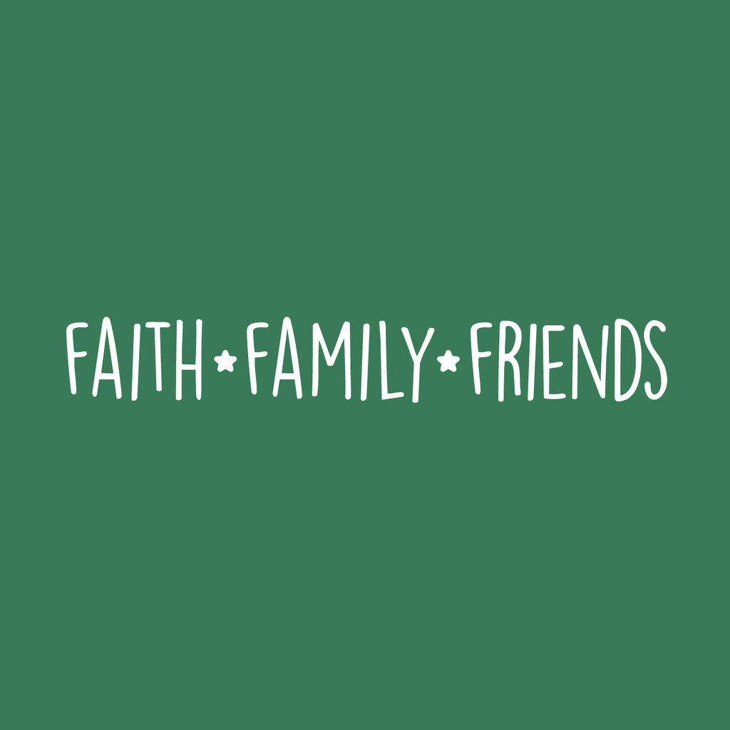 "Vinyl Wall Art Decal - Faith Family Friends - 3.5"" x 23"" - Trendy Inspirational Life Quote For Home Living Room Kitchen Dining Room Decoration Sticker - 660078171561"