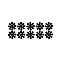 "Set of 10 Vinyl Wall Art Decal - Flowers - 5"" x 5"" Each - Bedroom Living Room Office Dorm Room Girly Wall Decoration - Cute Trendy Floral Apartment Stencil Adhesives Wall Decor 660078115435"