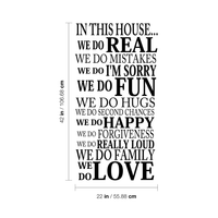 "In This House.. - 22"" x 42"" - Family Rules Vinyl Wall Decal Sticker Art"