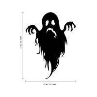 "Vinyl Wall Art Decal - Sad Ghost - 27"" x 20"" - Fun Spooky Halloween Seasonal Movie Props Sticker - Kids Teens Adults Indoor Outdoor Wall Door Window Living Room Office Decor 660078119068"