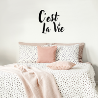 "C'est La Vie - Inspirational Quotes Wall Art Vinyl Decal - 18"" X 20"" Decoration Vinyl Sticker - Motivational Wall Art Decal - Bedroom Living Room Decor - Trendy Wall Art - Chic French Home Decor 660078090961"