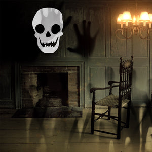 "Vinyl Wall Art Decal - Skull - 29"" x 20"" - Scary Death Halloween Seasonal Decoration Sticker - Teens Adults Indoor Outdoor Wall Door Window Living Room Office Decor 660078119556"