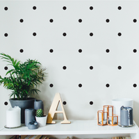 "200 Pack Fun Polka Dots Pattern - Wall Art Decal - 1"" x 1"" - Bedroom Living Room Wall Art Decoration - Peel Off Vinyl Stickers- Apartment Decor - Mix & Match Colors! 660078089095"