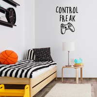 "Control Freak - 23"" x 28"" - Gaming Accessory Decor for Boy Girl Teens Bedroom"