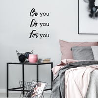 "Vinyl Wall Art Decal - Be You Do You for You - 23"" x 15"" - Motivational Home Living Room Office Quote - Positive Modern Bedroom Dorm Room Apartment Indoor Outdoor Wall Decor 660078115954"