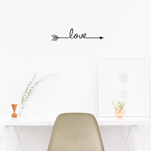 "Love Arrow 22.8"" x 5.5"" Wall Decoration Vinyl Sticker-Black"