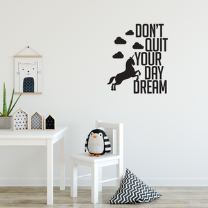 "Don't Quit Your Daydream - 22"" x 25"" - Inspirational Life Quotes -  Bedroom Living Room Wall Decor - Apartment Wall Decoration - Unicorn Gifts 660078089255"
