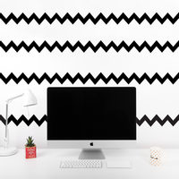 "Pack of 4 Chevron Pattern Stripes - Wall Art Decal - 36"" x 8"" - Bedroom Living Room Wall Decoration"
