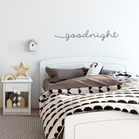 "Goodnight Wish Quote Decor - Wall Art Decal - 8"" x 45"" Bedroom Wall Vinyl Sticker - Vinyl Lettering Wall Art 660078088920"